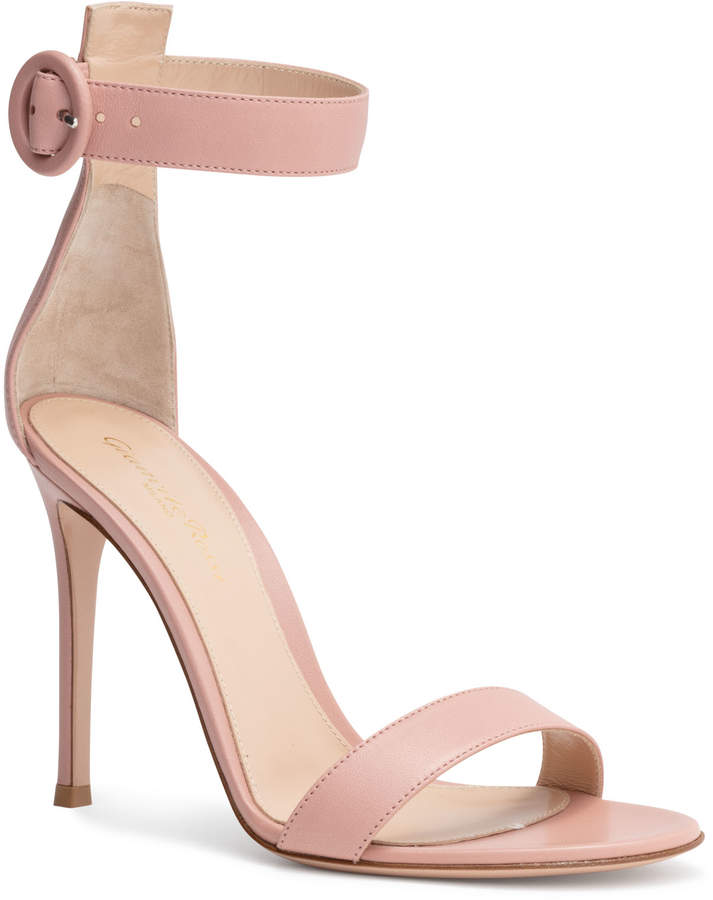 Gianvito Rossi Portofino 105 Dusty Pink Leather Sandals