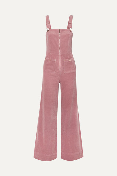 Alice McCall Quincy Stretch-cotton Corduroy Overalls - Baby pink