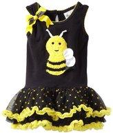 Rare Editions Girls 2-6X 3D Bee Applique Tutu Dress