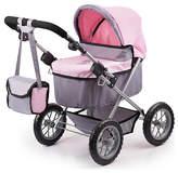 Bayer Dolls Pram Trendy Pink Grey.