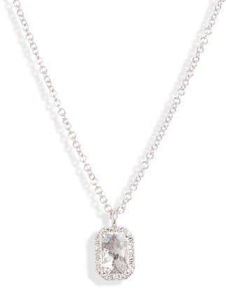 Ef Collection Diamond & Topaz Pendant Necklace