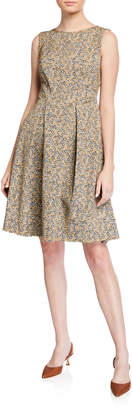 Max Studio Floral Fit-&-Flare Sleeveless Dress
