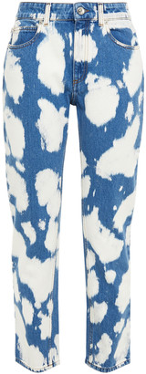 Burberry Bleached High-rise Straight-leg Jeans