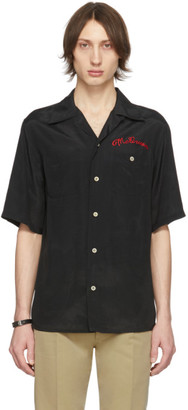 Alexander McQueen Black Logo Bowling Shirt