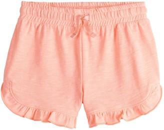 Girls 4-12 Jumping Beans Ruffled-Hem Shortie Shorts