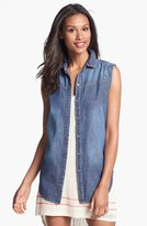 Jessica Simpson 'Sunray' Sleeveless Denim Shirt
