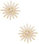 Artisan 18K Yellow Gold & 0.77 Total Ct. Diamond Star Stud Earrings