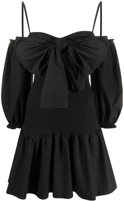 RED Valentino Bow-Detail Poplin Dress