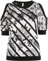 Antonio Marras striped floral jumper