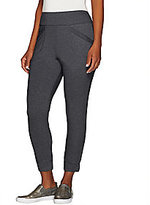 LOGO by Lo As Is LOGO Lounge by Lori Goldstein Pet. Crop Pants with Banded Hem