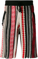 Laneus jacquard bermuda shorts