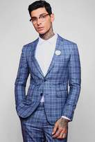 Jaspe Check Skinny Fit Suit Jacket