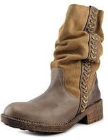 Coolway Falcon Women Round Toe Leather Brown Mid Calf Boot.