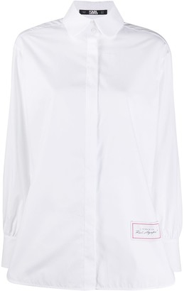 Karl Lagerfeld Paris Poplin Long-Sleeve Shirt