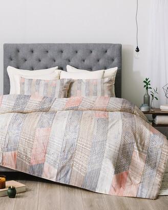 Deny Designs Iveta Abolina Farmhouse Peach Stripes Comforter Set