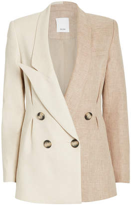 Acler Belvue Double-Breasted Two-Tone Blazer