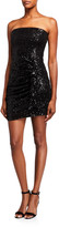 Parker Black Aurelia Sequin Bustier Mini Dress