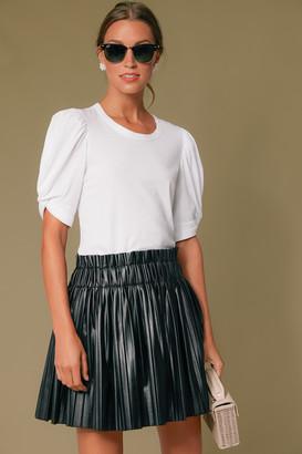 Do & Be Black Leather Pleat Chelsea Skirt