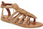 K Jacques St Tropez K.Jacques St. Tropez Fringe Flat Sandal (Women)
