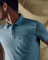 MASHY Chest pocket cotton polo shirt