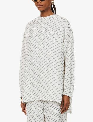 Ambush Logo-print relaxed-fit woven shirt