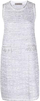 D-Exterior Tweed Midi Dress