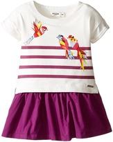 Junior Gaultier Stripe Dress with Bird Girl's Dress