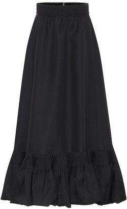 Valentino High-rise silk maxi skirt