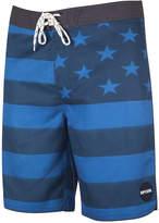 Rip Curl Men's Freestate Engineered Stripe Star-Print Swim Trunks