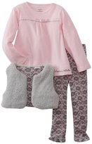 Calvin Klein Girls 2-6X Small Vest With Pink Top And Printed Legging
