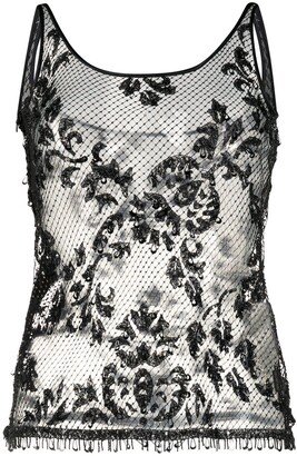 Dolce & Gabbana Pre-Owned Lace Tank Top