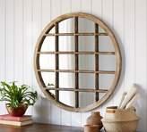 Pottery Barn Porto Round Wood Mirror