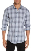 Zachary Prell Men's Perrygold Slim Fit Check Sport Shirt