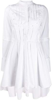 Alexander McQueen button-detailed pleated dress