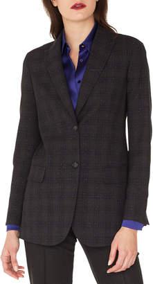Akris Tweed Long-Sleeve Wool Jacket
