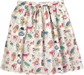Cath Kidston Dogs Viscose Twill Skirt