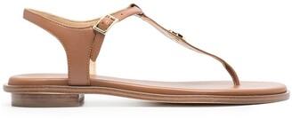 MICHAEL Michael Kors logo plaque T-bar sandals