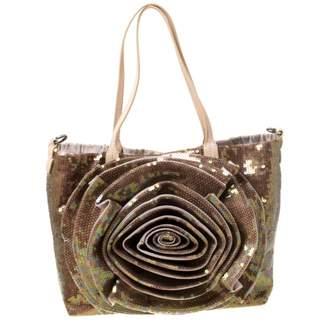 Valentino Beige Glitter Handbags