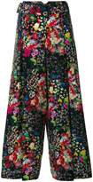 Etro cropped floral print trousers