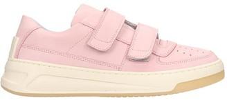 Acne Studios Steffey Sneakers In Rose-pink Nubuck