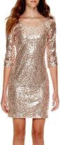 My Michelle 3/4-Sleeve Sequin Dress - Juniors
