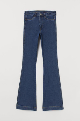H&M Flared High Jeans - Blue