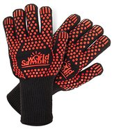 Samuelworld BBQ/ Grill Gloves Heat Resistant Oven Gloves& Oven Mitts For Cooking Baking Smoker Grilling(1 Pair), Long Size(L-XL)