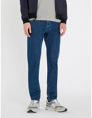 BOSS Faded regular-fit straight jeans