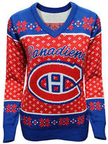 Klew Montreal Canadiens V-Neck Ugly Sweater