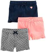 Simple Joys by Carter's Girls' Toddler 3-Pack Knit Shorts