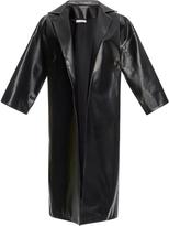 Tome Swarovski Crystal Embellished Leather Overcoat