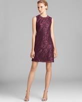 Adrianna Papell Jewel Neck Lace Sheath Dress - Sleeveless