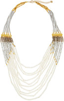 Nakamol Multi-Strand Layered Jasper & Crystal Beaded Necklace