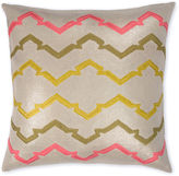 The Piper Collection Jackie 22x22 Linen Pillow, Flax